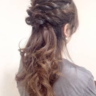 フェミニン モテ髪 ゆるふわ ヘアアレンジ ヘアスタイルや髪型の写真・画像 ヘアスタイルや髪型の写真・画像