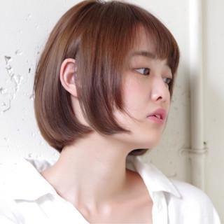 ショート 秋 ストリート 透明感 ヘアスタイルや髪型の写真・画像