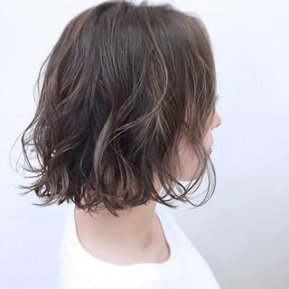 ナチュラル グラデーションカラー ボブ 大人かわいい ヘアスタイルや髪型の写真・画像