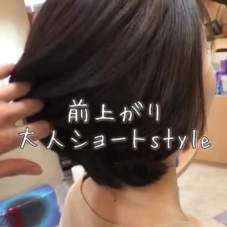 グレージュ 透明感 ナチュラル ミディアム ヘアスタイルや髪型の写真・画像