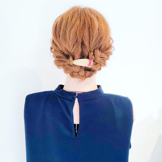 フェミニン 簡単ヘアアレンジ デート 涼しげ ヘアスタイルや髪型の写真・画像