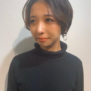 マッシュショート ハンサムショート ショートボブ ナチュラル ヘアスタイルや髪型の写真・画像