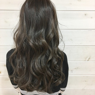 ハイライト ロング 外国人風 グラデーションカラー ヘアスタイルや髪型の写真・画像