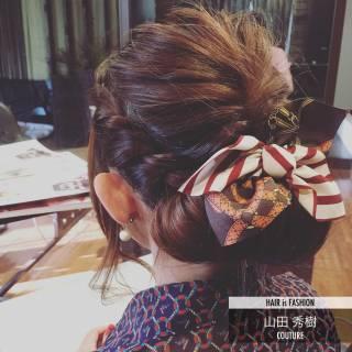 ショート ロング ヘアアレンジ 編み込み ヘアスタイルや髪型の写真・画像