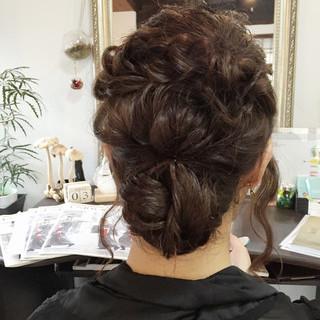 ロング シニヨン モテ髪 ヘアアレンジ ヘアスタイルや髪型の写真・画像