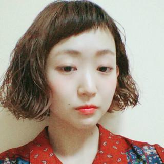 ゆるふわ 色気 パーマ ボブ ヘアスタイルや髪型の写真・画像 ヘアスタイルや髪型の写真・画像