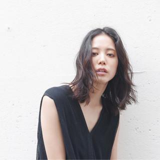 黒髪 ミディアム 外国人風 ストリート ヘアスタイルや髪型の写真・画像