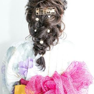 謝恩会 ヘアアレンジ フェミニン 外国人風 ヘアスタイルや髪型の写真・画像