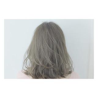 ラベンダー ラベンダーアッシュ ミディアム ストリート ヘアスタイルや髪型の写真・画像 ヘアスタイルや髪型の写真・画像