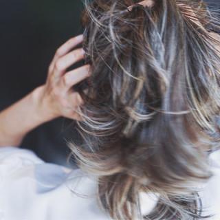 ローライト ハイライト 上品 エレガント ヘアスタイルや髪型の写真・画像