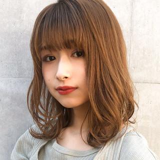 ミディアム デジタルパーマ 愛され 大人かわいい ヘアスタイルや髪型の写真・画像