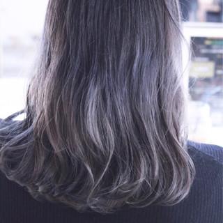 グレージュ フェミニン ボブ グレー ヘアスタイルや髪型の写真・画像