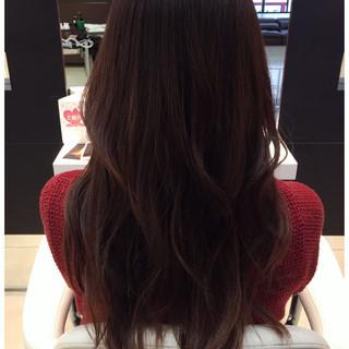 グラデーションカラー ロング ガーリー カール ヘアスタイルや髪型の写真・画像