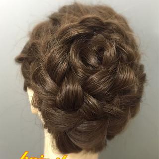 ヘアアレンジ アップスタイル 編み込み 和装 ヘアスタイルや髪型の写真・画像 ヘアスタイルや髪型の写真・画像