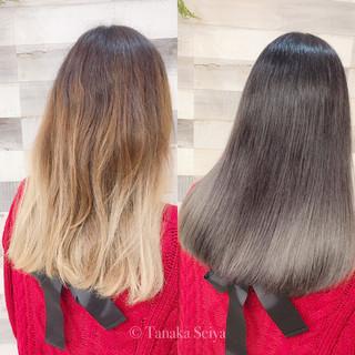 艶髪 モード グレージュ イルミナカラー ヘアスタイルや髪型の写真・画像