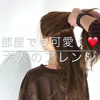 フェミニン 簡単ヘアアレンジ ロング ヘアアレンジ ヘアスタイルや髪型の写真・画像