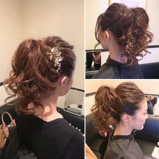 ポニーテールアレンジ ヘアアレンジ ポニーテール フェミニン ヘアスタイルや髪型の写真・画像