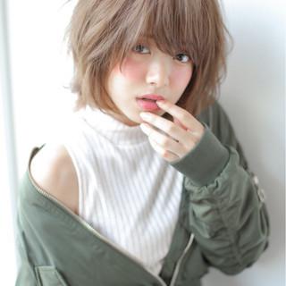 色気 うざバング フェミニン ボブ ヘアスタイルや髪型の写真・画像
