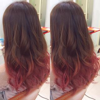 グラデーションカラー ミルクティー 春 ガーリー ヘアスタイルや髪型の写真・画像