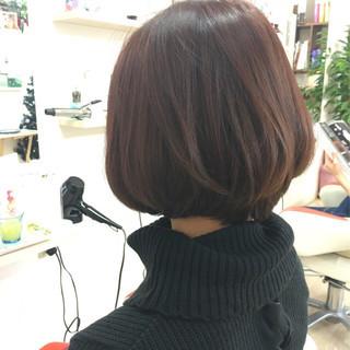 アッシュバイオレット ショートボブ ショート ナチュラル ヘアスタイルや髪型の写真・画像