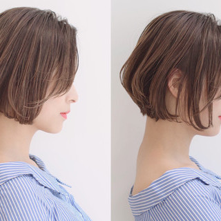 ヘアアレンジ オフィス ボブ ナチュラル ヘアスタイルや髪型の写真・画像