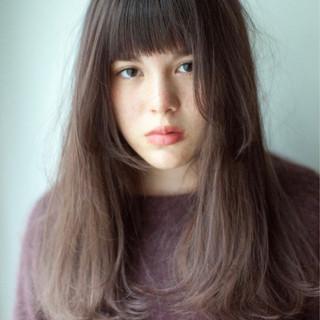 ヘアアレンジ ラベンダーアッシュ デート ナチュラル ヘアスタイルや髪型の写真・画像