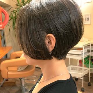 艶髪 ナチュラル ショートボブ 黒髪 ヘアスタイルや髪型の写真・画像