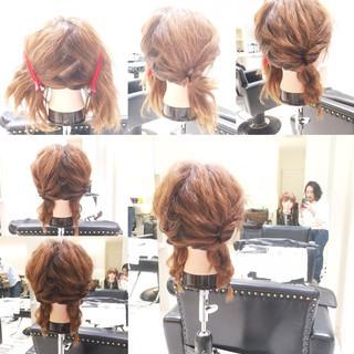 簡単ヘアアレンジ ショート ラフ 大人かわいい ヘアスタイルや髪型の写真・画像