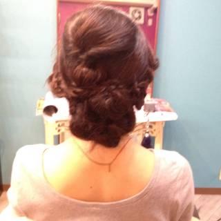 ヘアアレンジ ゆるふわ 三つ編み ナチュラル ヘアスタイルや髪型の写真・画像 ヘアスタイルや髪型の写真・画像