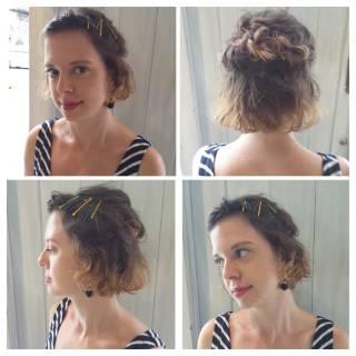 ヘアアレンジ 簡単ヘアアレンジ ショート ボブ ヘアスタイルや髪型の写真・画像 ヘアスタイルや髪型の写真・画像