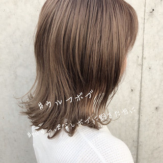 ウルフカット ヘアアレンジ デート オフィス ヘアスタイルや髪型の写真・画像