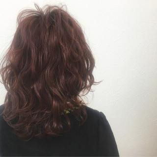セミロング ガーリー マッシュ レイヤーカット ヘアスタイルや髪型の写真・画像