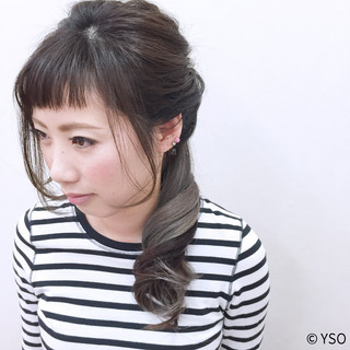 ショート 簡単ヘアアレンジ ストリート フェミニン ヘアスタイルや髪型の写真・画像