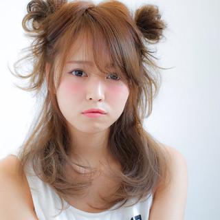 ハーフアップ ショート ゆるふわ 簡単ヘアアレンジ ヘアスタイルや髪型の写真・画像