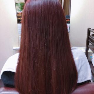 フェミニン ピンク ナチュラル ベージュ ヘアスタイルや髪型の写真・画像