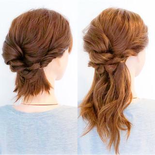 簡単ヘアアレンジ エレガント 上品 ヘアアレンジ ヘアスタイルや髪型の写真・画像