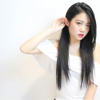 内巻き 暗髪 黒髪 ストレート ヘアスタイルや髪型の写真・画像 ヘアスタイルや髪型の写真・画像