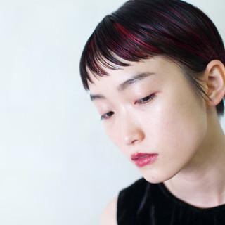 グラデーションカラー モード ショート 前髪あり ヘアスタイルや髪型の写真・画像 ヘアスタイルや髪型の写真・画像