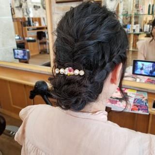 上品 エレガント ヘアアレンジ 涼しげ ヘアスタイルや髪型の写真・画像