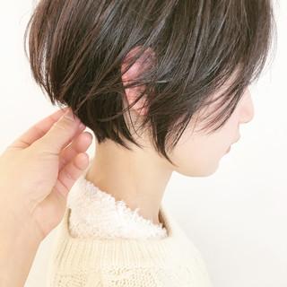 インナーカラー ショートヘア ベリーショート ショートボブ ヘアスタイルや髪型の写真・画像