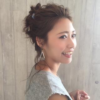 ヘアアレンジ ショート 女子会 ロング ヘアスタイルや髪型の写真・画像