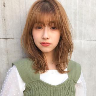 ミディアムヘアー フェミニン ひし形シルエット ミディアム ヘアスタイルや髪型の写真・画像