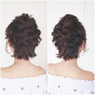 ボブ リラックス 結婚式 大人かわいい ヘアスタイルや髪型の写真・画像 ヘアスタイルや髪型の写真・画像