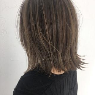ハイライト 外国人風 ボブ ミルクティー ヘアスタイルや髪型の写真・画像