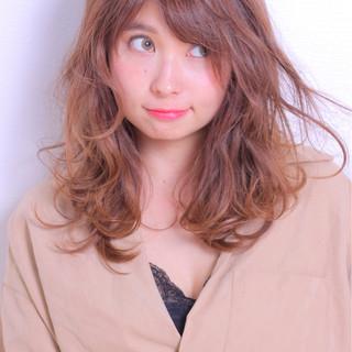 ロング かわいい フェミニン モテ髪 ヘアスタイルや髪型の写真・画像