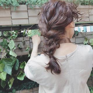 パーマ ショート ヘアアレンジ ナチュラル ヘアスタイルや髪型の写真・画像