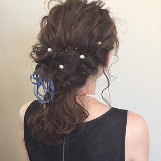 ゆるふわ 大人かわいい ショート 簡単ヘアアレンジ ヘアスタイルや髪型の写真・画像
