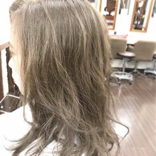 ゆるふわ オリージュ 外国人風 ミディアム ヘアスタイルや髪型の写真・画像