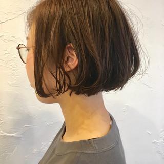 ウェーブ ボブ デート ゆるふわ ヘアスタイルや髪型の写真・画像