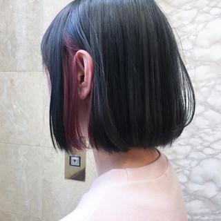 インナーカラー ストリート 透明感 ショート ヘアスタイルや髪型の写真・画像